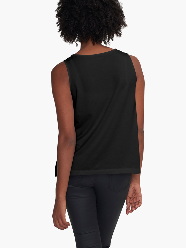 Alternate view of White and Black Jungle Sleeveless Top