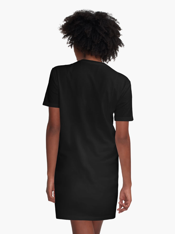 Alternate view of Destroying the Patriarchy, Black Design Graphic T-Shirt Dress