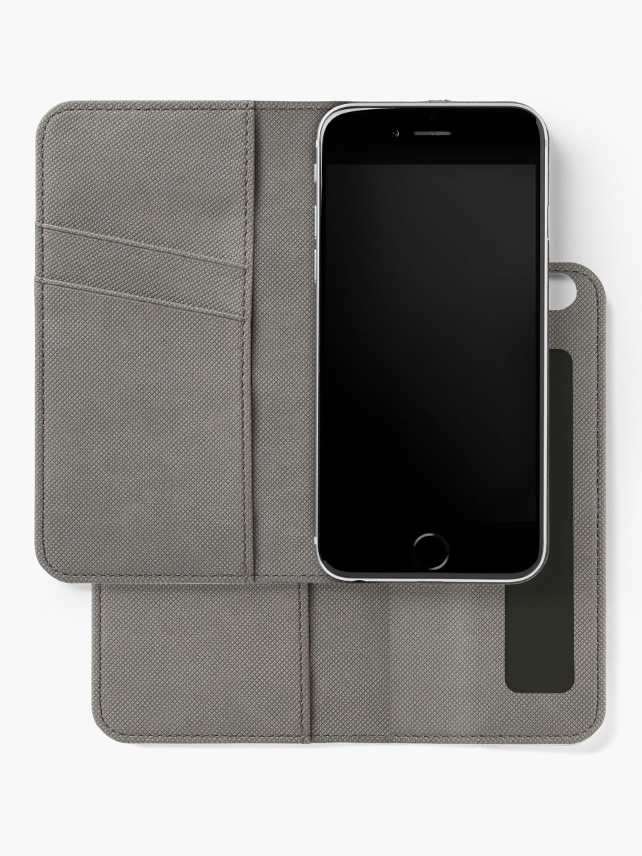 Alternative Ansicht von Onyx schwarz iPhone Flip-Case
